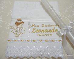 "Toalha de Batizado + Vela ""PROMO��O"