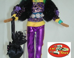 Boneca Estilo Monster High Claudeen Gree