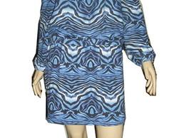 Vestido Ciganinha estampado GG