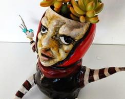 Cachep� Escultura Human�ide