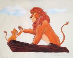 Len�ol e Fronha para ber�o Rei Le�o