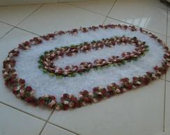 "Tapete ""jardineira"" de croch�"