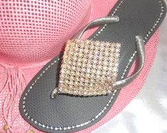 Slim Bordada com Perola e Strass