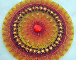 Mandala Prosperidade vidro 30cm