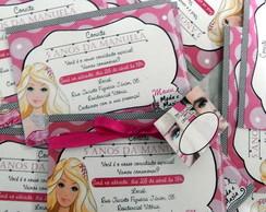 Convite Ingresso Barbie Moda e Magia