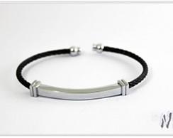 Bracelete em A�o Inox Negro