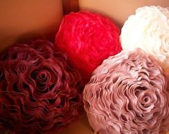 capa para almofada formato  d rosa