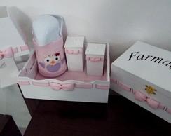 Kit Higiene em Piquet - Corujinha
