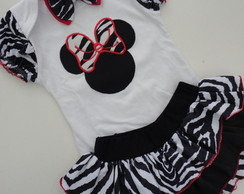 Conjunto beb� Minnie Safari Zebra!!