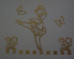 Painel bailarina vazada (dourada)