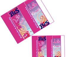 R�tulo para baton Barbie Sapatilhas
