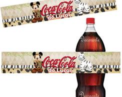 R�tulo Coca Cola 19,5x3,5Cm MickeySafari
