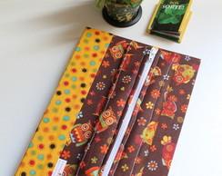 Caderno Corujinha, Estojo e Marcador P�g