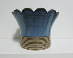 Cachepot Flor Azul Claro