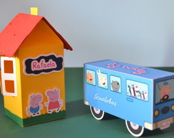 Kit Casinha + �nibus da Peppa Pig