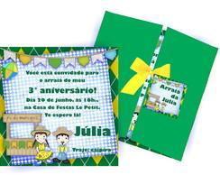 Convite Arrai� Verde e Amarelo