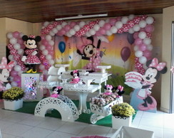Decora��o de festa Minnie Rosa
