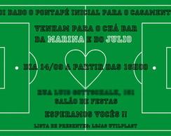 Arte Convite Futebol