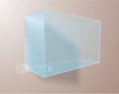 Nicho Retangular Liso Acr�lico Cristal