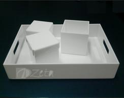 Kit Higiene Acr�lico Branco