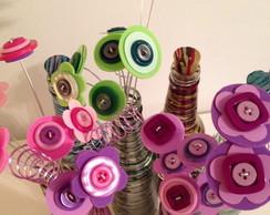 Flores em tecido para decora��o