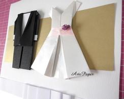 Convite de casamento - Linha Origami