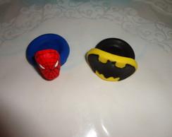 Porta Docinhos Homem Aranha e Batman