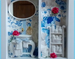 Quadrinho Lavabo Blue Rose