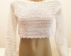 Blusa Cropped Branca