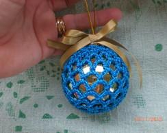 Bola de natal em croch�