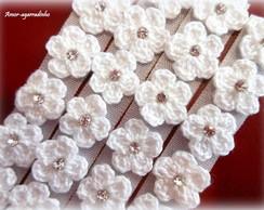 Lacinho Florzinha de Croch� Branco