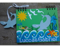 Caderno Fundo do Mar Personalizado