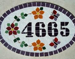 Numero Residencial Oval Grande