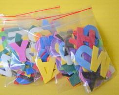 Alfabeto + Vogais Extras em EVA 4cm