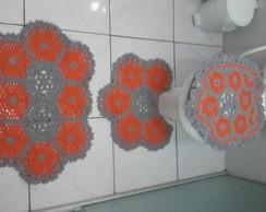 Conjunto para Banheiro de Croch� 4 pe�as
