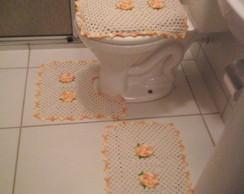 Tapetes para banheiro flor amarela