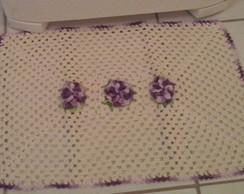 Tapete de cozinha flor lil�s