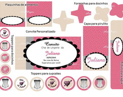 Kit festa digital Ch� de lingerie