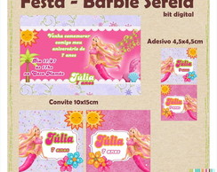 Barbie Sereia - Kit Personalizado