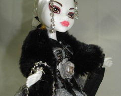 Boneca Estilo Monster High Catrina Grey