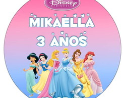 Adesivo latinha Princesas