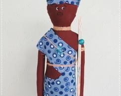 Boneco Africano em tecido