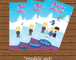 R�tulo Para Bisnaga - Frozen