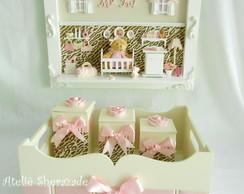 Kit decora��o rosa com oncinha