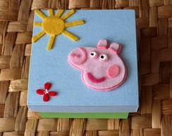 Caixinha Peppa Pig (feltro)