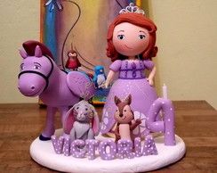Topo de bolo Princesa Sofia e seus amigo
