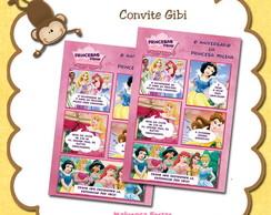 Convite Gibi Princesas Disney