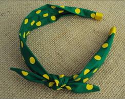 Tiara Faixa Verde e Amarela
