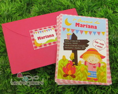 Convite Festa Junina Baby Menina