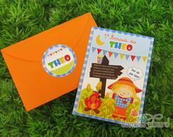 Convite Festa Junina Baby Menino